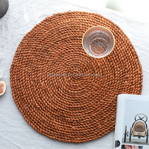 round placemat straw rattan woven table mat