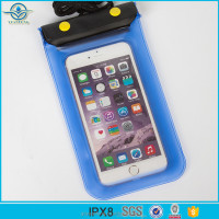 2017 Universal WaterProof PVC Phone Bag Waterproof Pouch Dry Bag Cover Case for Cell Phone with Two Buttons