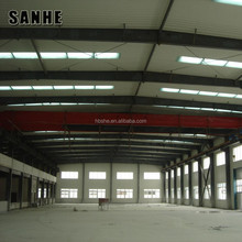 China prefabricated steel structure warehouse with 10 tons crane
