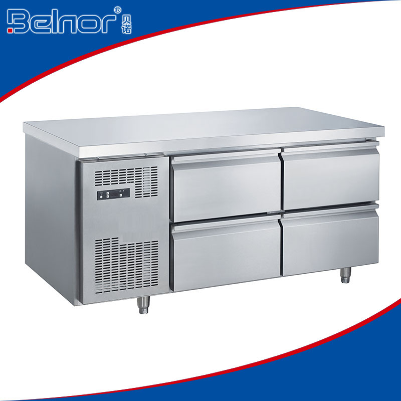 TC0.3N4W Stainless Steel Work Bench Refrigerator with 4 drawer