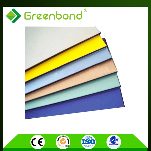 Greenbond curtain wall decoration both side pvdf coated pe / pvdf core acp prices popular acp manufacturer
