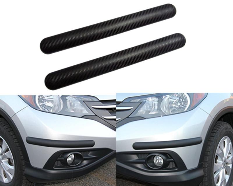 4Pcs Universal Car Chrome Anti-rub Bumper Corner Edge Scratch Guard Protector UK