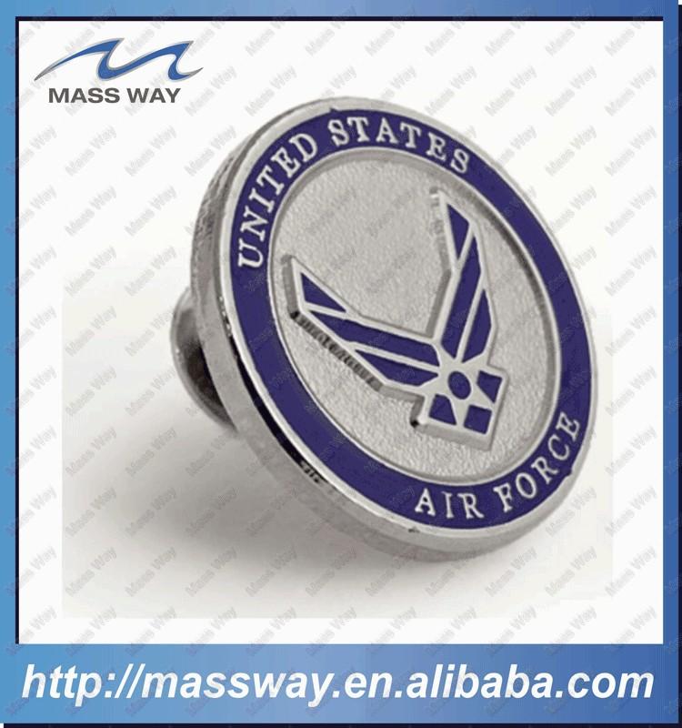 High Grade Stamped Pin Brass Custom Metal Enamel Badges
