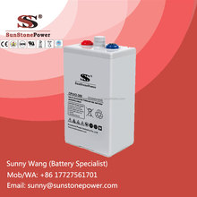 Deep Cycle Rechargeable Gel Battery 2v 300ah OpzV Battery Industrial Stationary Batteries