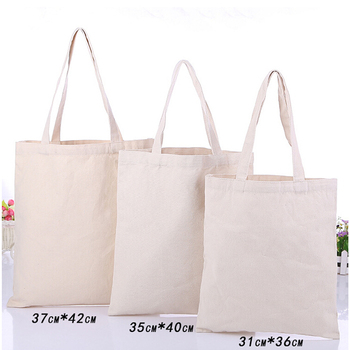 Custom Print Blank Plain Natural Color Tote Bag Cotton Canvas