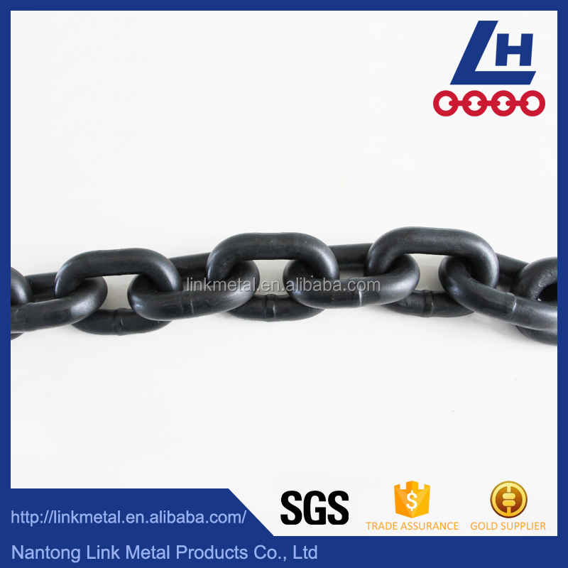 G80 Alloy Steel Black Oxidised Lifting Chain with test report