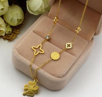 5b1ac5d926c64 Fashion Korean Design Jewelry Nine Stars Stainless Steel Girls Gold Choker  Layered Necklace - Buy Layered Necklace,Gold Choker Neckace,Korean Necklace  ...