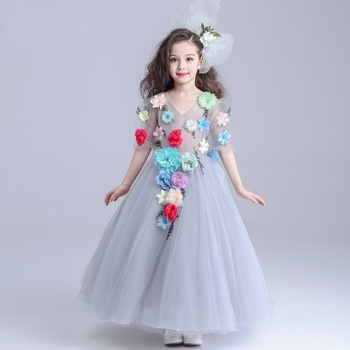 Children Long Frocks Designs Kids Flower Girl Dress Wedding Party Dress With Flower Decoration S1606 Buy Baby Girls Party Dress Design Girls