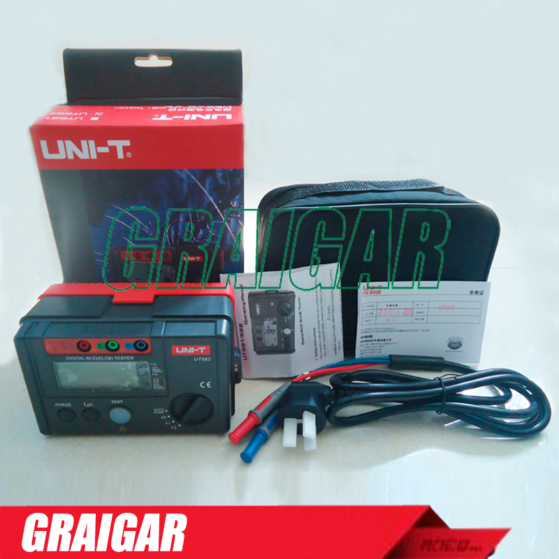 Digital Rcd (elcb) Testers Uni-t Ut582 Auto Ramp Function Leakage ...