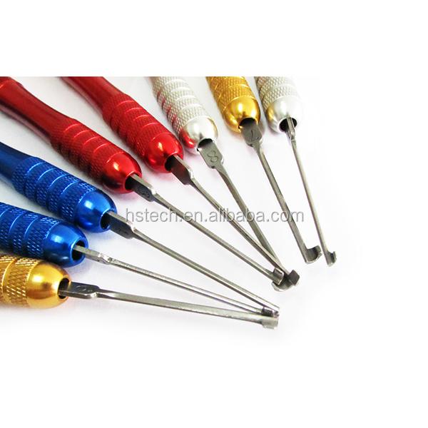 China supplier huk Portable 8+2 dimple kaba Practice Unlocking locksmith Tool Set Keys Remove Tools with Lock Pick