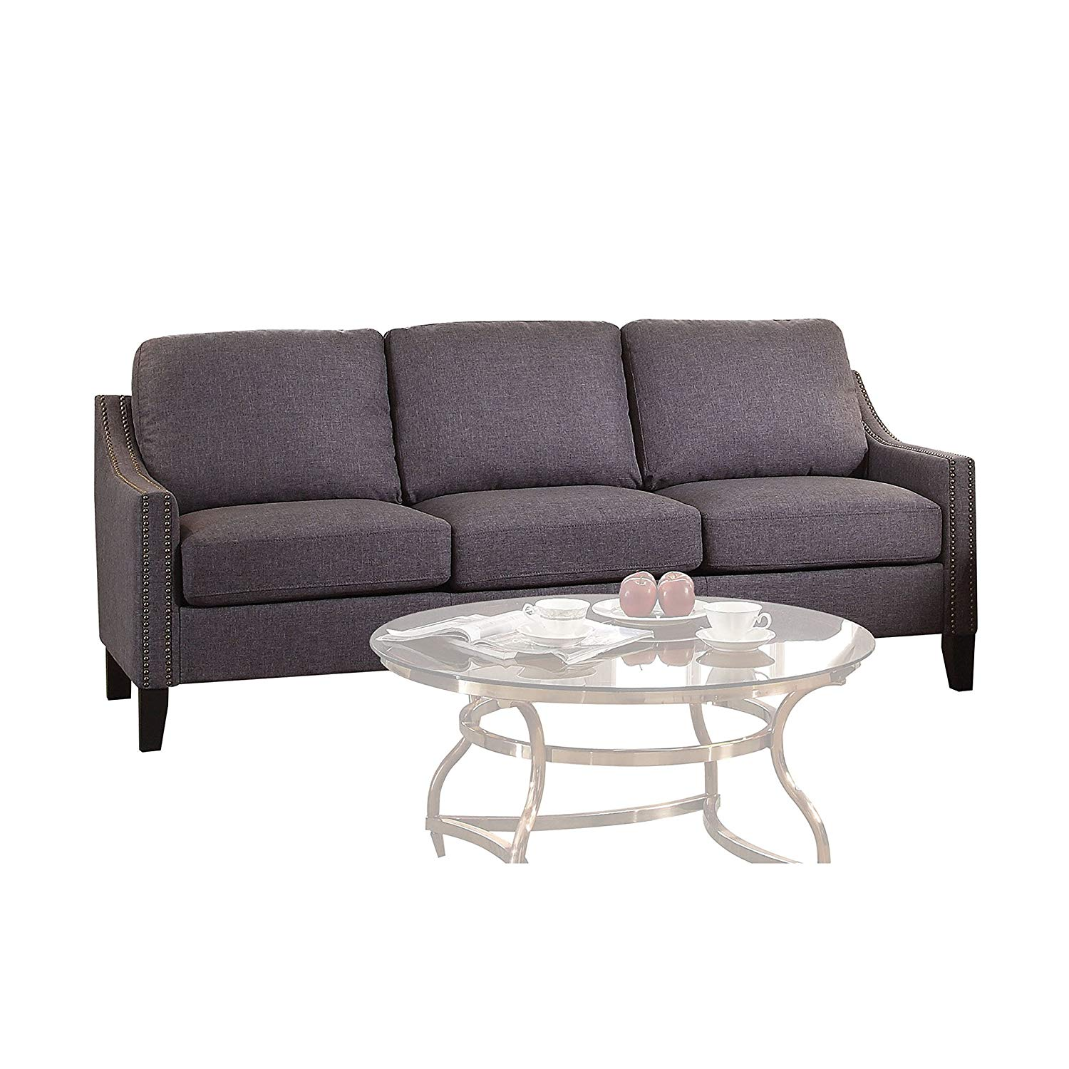 Get Quotations · Contemporary Stylish Sofa, Loose Back And Seat Cushion  With Thick Padding, Wood Frame,
