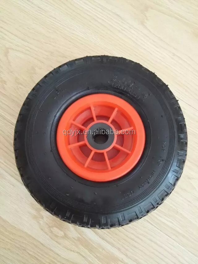 10inch launching rubber pneumatic wheel 3.00-4 for inflatable boat