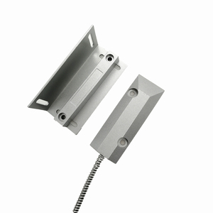 Burglar Alarm Surface Mounted Polished Aluminum OKI Reed Switch Wired Door Magnetic Contact