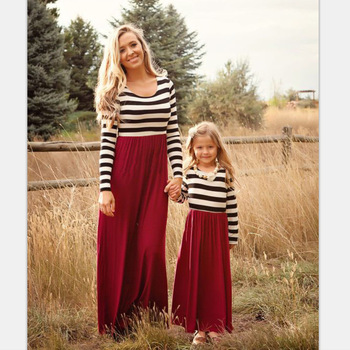13c6a8442e016 2017 Top Sell New Look Family Matching Sets Spring Autumn Design Long  Sleeve Mother Daughter Family Matching Dress - Buy Matching Mother Daughter  ...