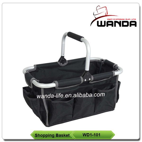 Aluminium Frame Folding Cloth Cosmetic Shopping Basket