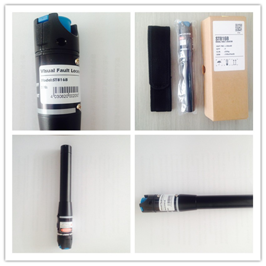 ST816B 30mw pen size fiber optic visual fault locator optic fiber tester mini visual fault locator