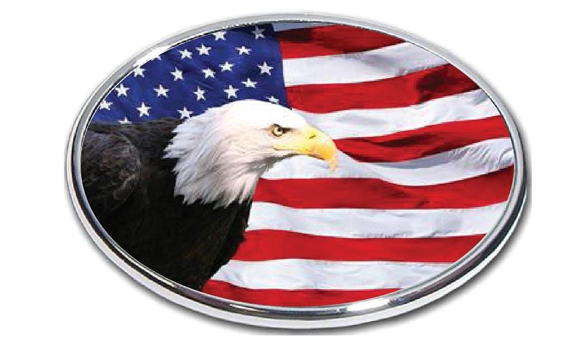 American Eagle Flag Trailer Hitch Cover American Blad Eagle Falg 3 2 Hitch Receiver 3//8 Inch Thick High Grade Aluminum Size Measures 4 X 6