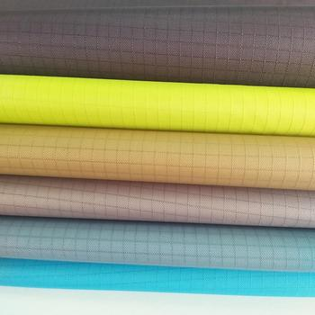 polyester taffeta ribstop plaid fabric laminated with TPU membrane