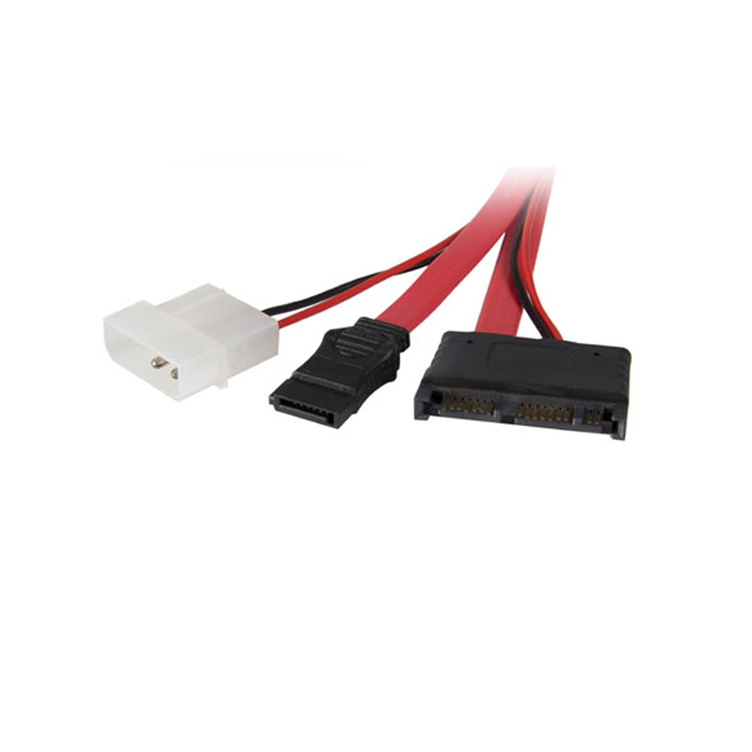StarTech.com Micro SATA to SATA with LP4 Power Cable Adapter - 12 Inch (MCSATAM12)