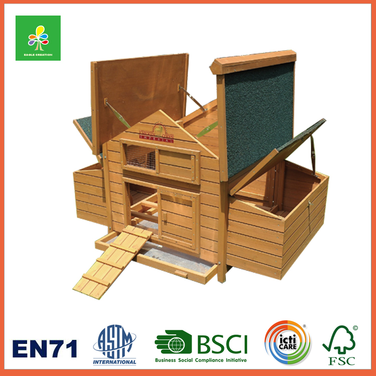 Outdoor Guinea Pig Pet House, Wood Cat House Shelter with Roof