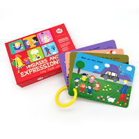 wholesale custom alphabet children educational wild animals mini flash cards printing for kids
