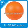 Orange 70mm Ball Stress Shape Promotional Anti Stress Balls