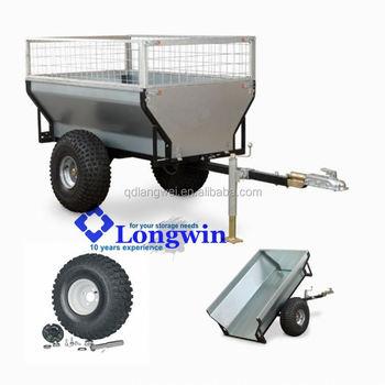 utility small farm garden tractor trailer lawn tipping atv trailer - Garden Tractor Trailer
