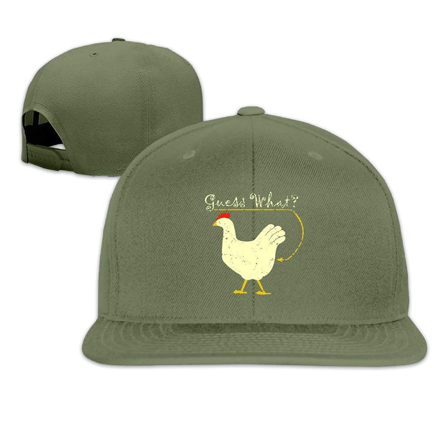 24ccdb0e070e Adult Unisex Cute Crazy Guess What Chicken Butt Funny Humor Plain Caps Sun  Hats Beanies Hats