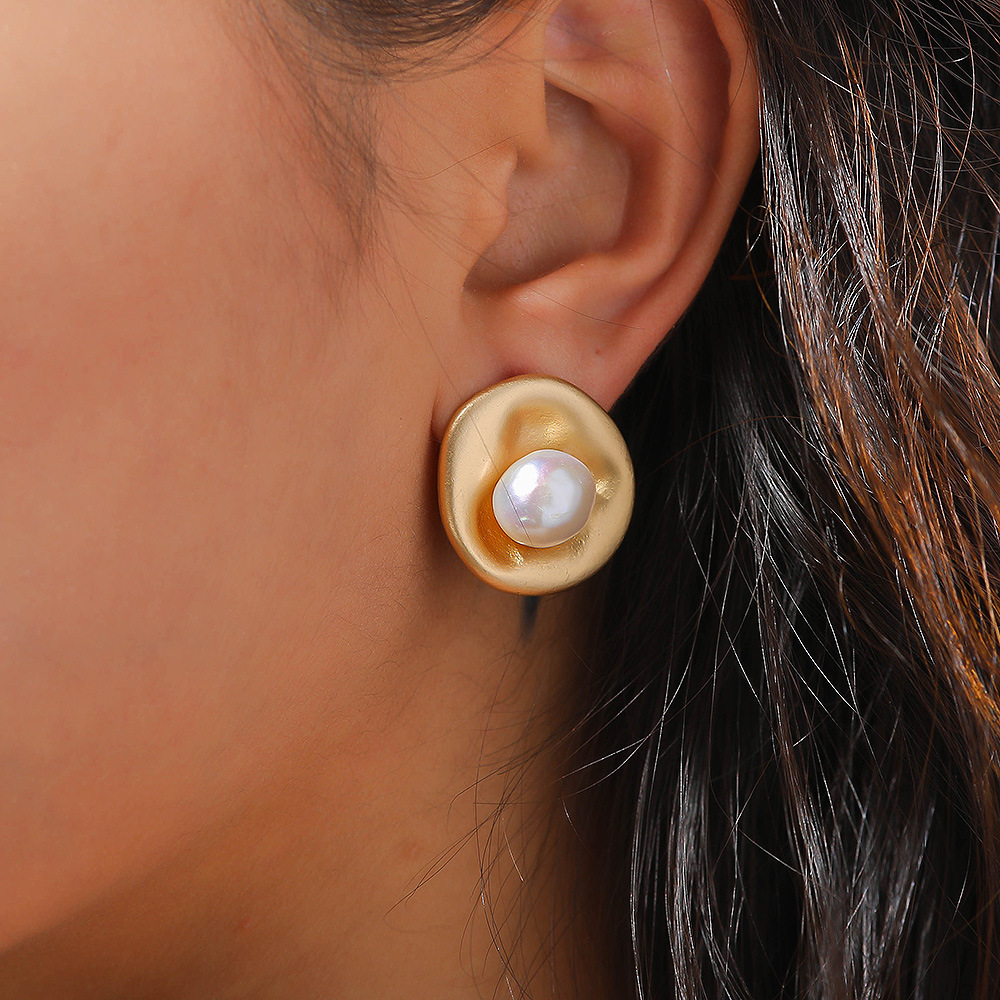 Women earrings pearl jewelry genuine pearl earrings