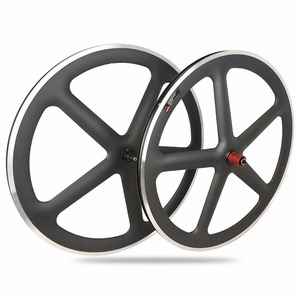 T700 New 5-Spoke Carbon wheels with aluminum brakes surface clincher ,Hot sell Carbon road Bike wheels