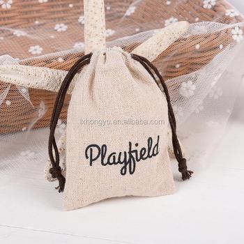 Customized Logo Printing Linen Gift Bag
