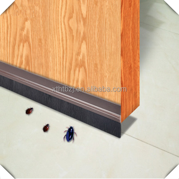 Adhesive waterproof bottom door seal brush strip with pvc holder & Adhesive Waterproof Bottom Door Seal Brush Strip With Pvc Holder ... Pezcame.Com