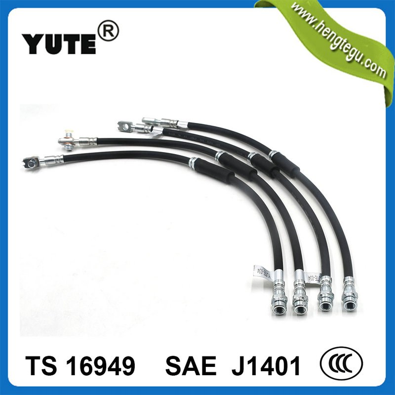 "Flexible rubber sae j1401 hydraulic brake hose 1/8"" hl"