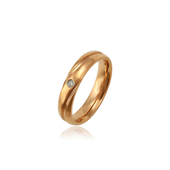 16001 Xuping simple gold plated ring design fashion jewelry for women and men