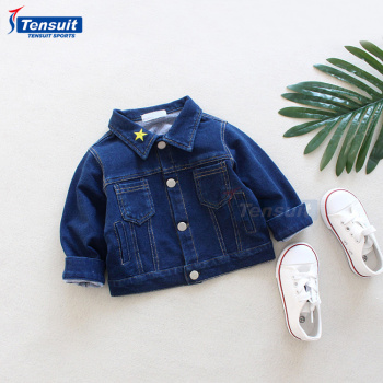 9f2e9286ac33 Custom Star Logo Kids Jean Jacket Thick Warm Winter Boys Clothing ...