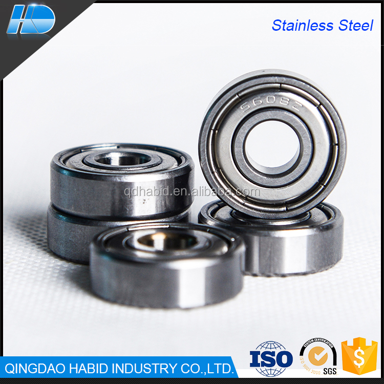 Carbon Stainless Steel super grinding 608ZZ RS used for wheels Deep Groove Ball Bearing
