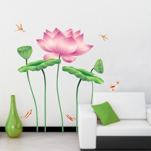 Incredible Buy Amaonm Huge Removable Diy Pink Flowers Wall Decals Download Free Architecture Designs Rallybritishbridgeorg