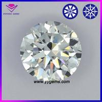 Star Cut Fashion white round brilliant cut gemstone low price synthetic cubic zirconia Uncut Rough Diamond Price
