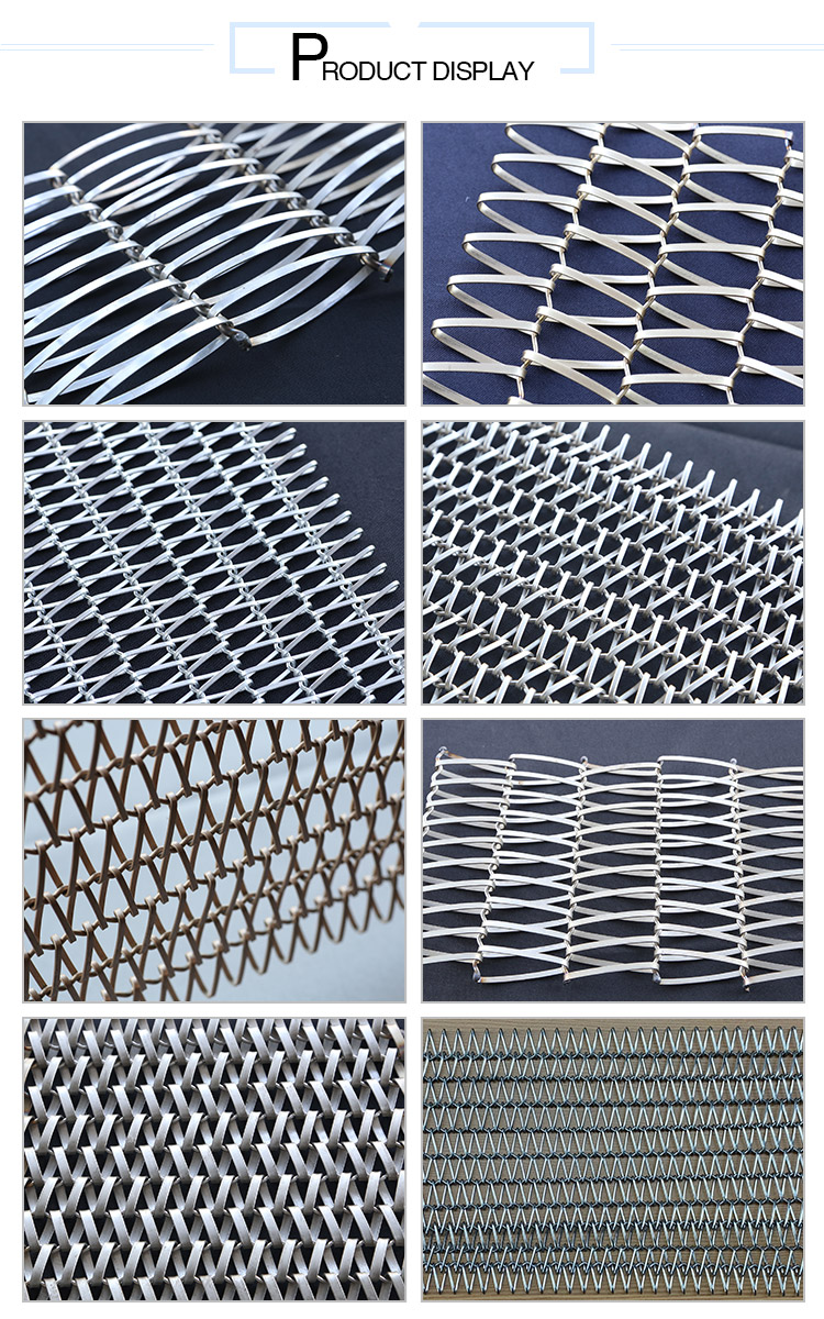 Decorative Stainless Steel Spiral Wire Conveyor Belt Mesh