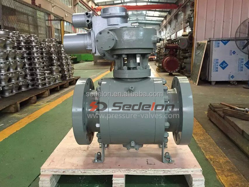 Motor Operated 3PC Trunnion Ball Valve
