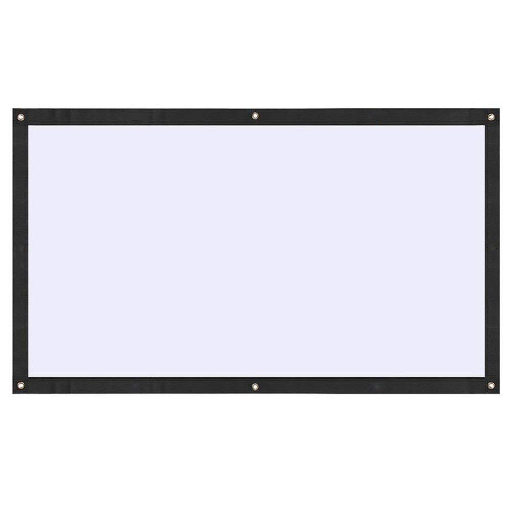 "BigFamily Projector Screen, 100"" Inches 16:9 Portable HD Indoor Outdoor Home Cinema Theater Projection Screen (Anti-Crease, Easy to Clean)"