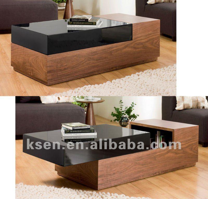 High Gloss Mix Melamine Coffee Table Black Modern Product On Alibaba