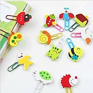 Gadfly- Cute Wooden Cartoon Character Paperclip Bookmarks.set of 12.