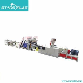 pvc flooring machinery imitation marble wall panel production line