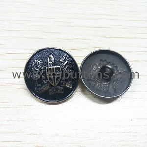 embossed brand decorative metal shank button
