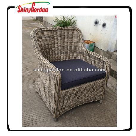 Oversized Rattan Chair Kubu Grey