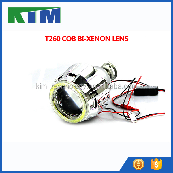 KIM top seller 2.5 inch HID xenon angel eye projector lens with devil eyes for motorcycle angel eyes headlights