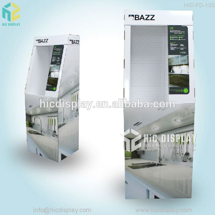 e paper stand up display for LED light sale