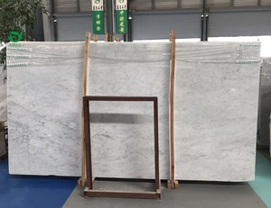 New design man-made carrara white marble slab table top