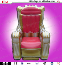 Giant attractive living room furniture made in china king throne inflatable chair